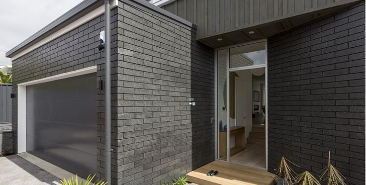 Black brick and black mortar nz google search dark for Black brick on house