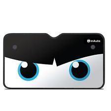 Angry Eyes Car Truck SUV Front Windshield Sun Shade UV Protector Window Folding