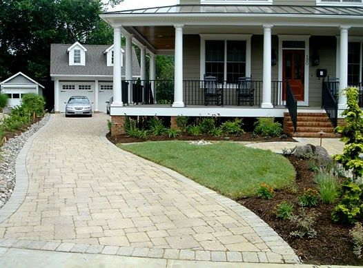 127 Best Driveway And Front Exterior Design Images On Pinterest | Driveways,  Driveway Ideas And Exterior Design