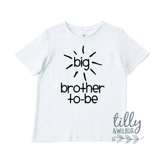 Boys Tee. Big Brother To-Be - Big Brother Announcement - Big Bro Gift - Pregnancy Announcement / Reveal - Sibling T-Shirt