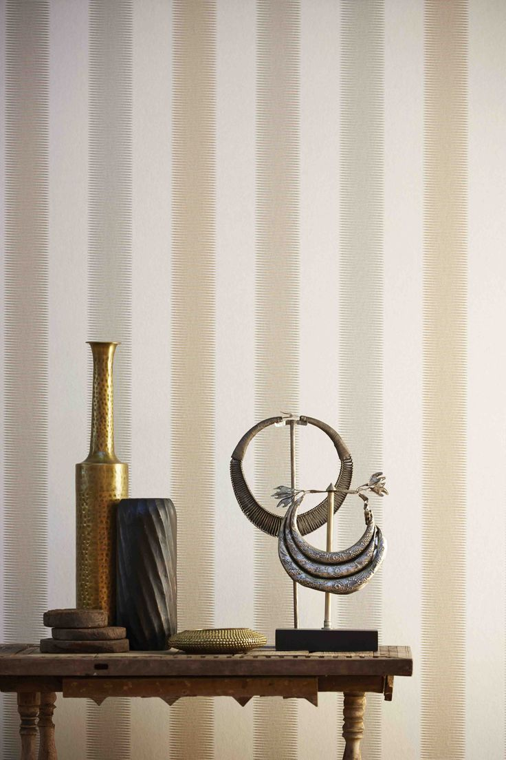 Tambo wallpaper from Harlequin's Amazilia collection is a zig zag stripe with a subtle ikat feel!