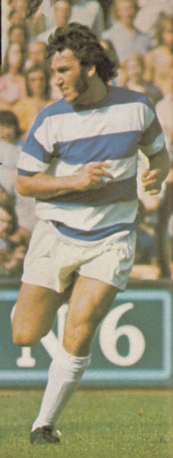 August 1973. Queens Park Rangers creative midfielder Gerry Francis, pictured at Loftus Toad.