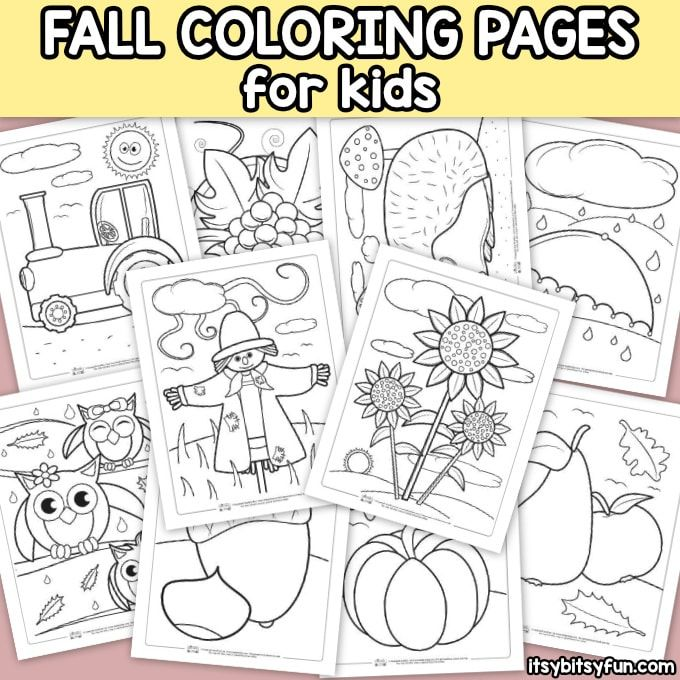 Fall Coloring Pages For Kids Itsybitsyfun Com Fall Coloring Pages Coloring Pages For Kids Coloring Pages