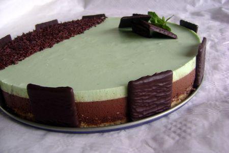 recette de cuisine bavarois chocolat-menthe