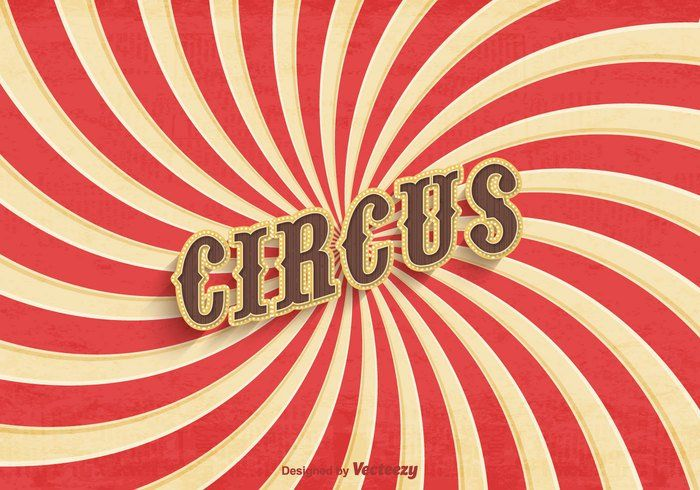 Poster velho do circo de livre Vector