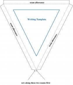 Bunting Template: copy and paste into your publishing software  and adjust to size
