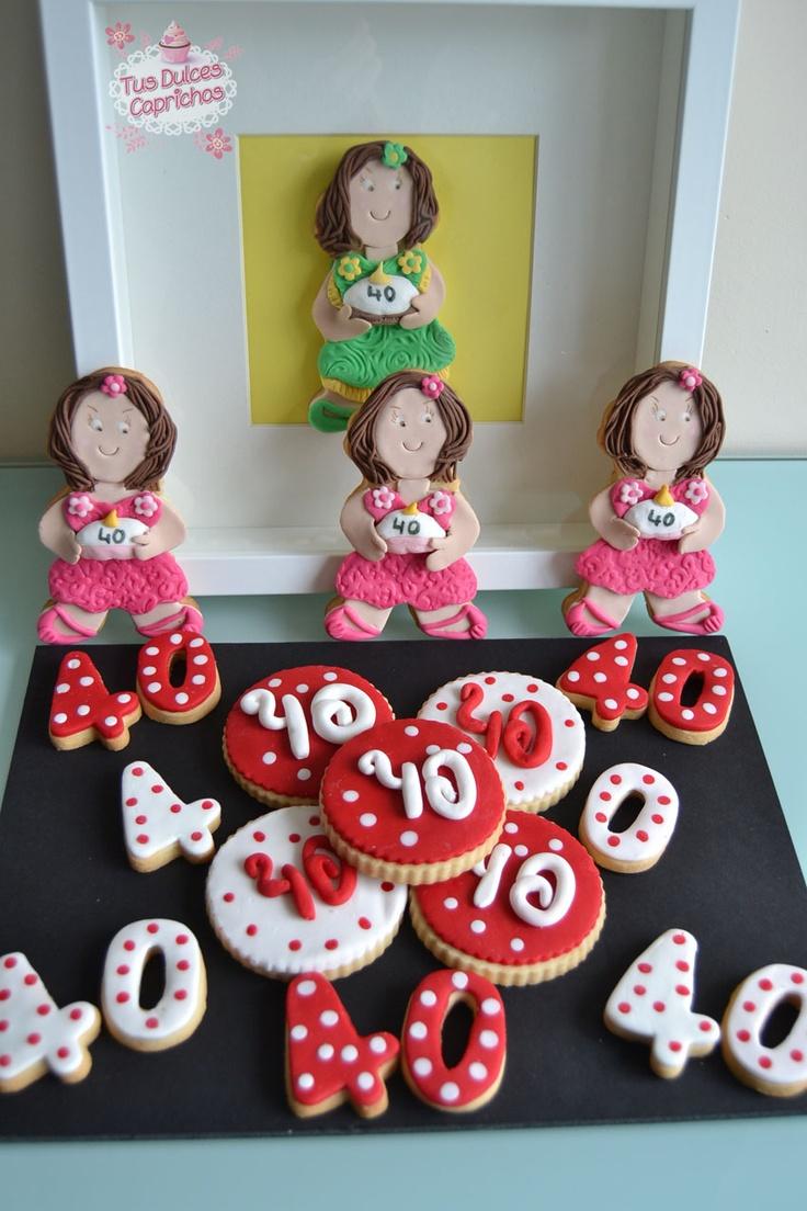 Galletas 40 a os galletas decoradas pinterest dinners for Decoracion 40
