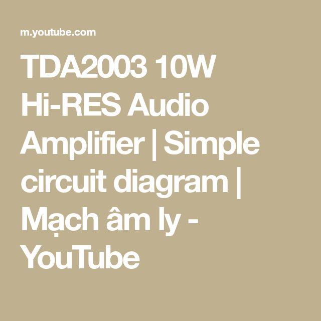 TDA2003 10W Hi-RES Audio Amplifier | Simple circuit ...