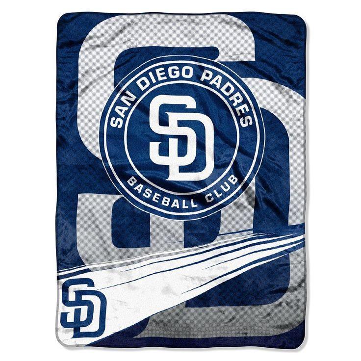 San Diego Padres MLB Royal Plush Raschel Blanket (Speed Series) (60x80)