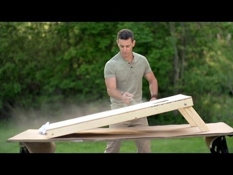Watch as Mark Clement makes wooden bean bag boards glow in the night with glow in the dark spray paint from Krylon. For more information on ...