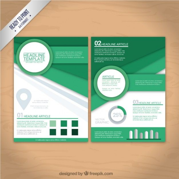 Geometric shapes flyer Free Vector