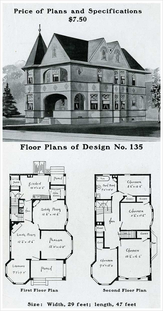 Vintage house plans 1900s a collection of other ideas to for Queen anne style house plans