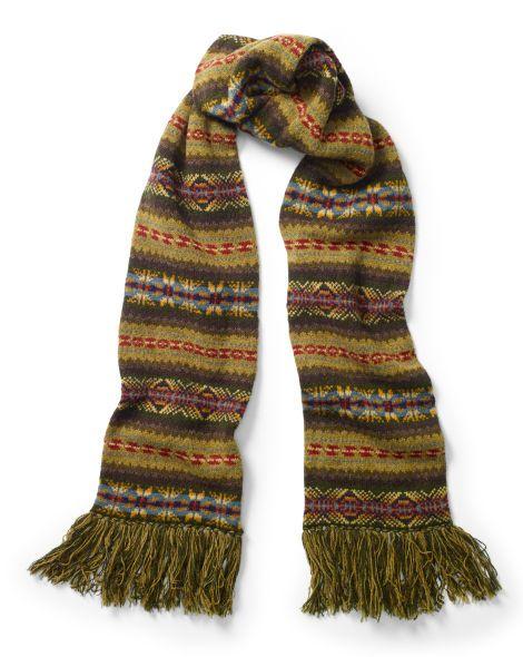 Fair Isle Wool Scarf - Polo Ralph Lauren New Arrivals - RalphLauren.com