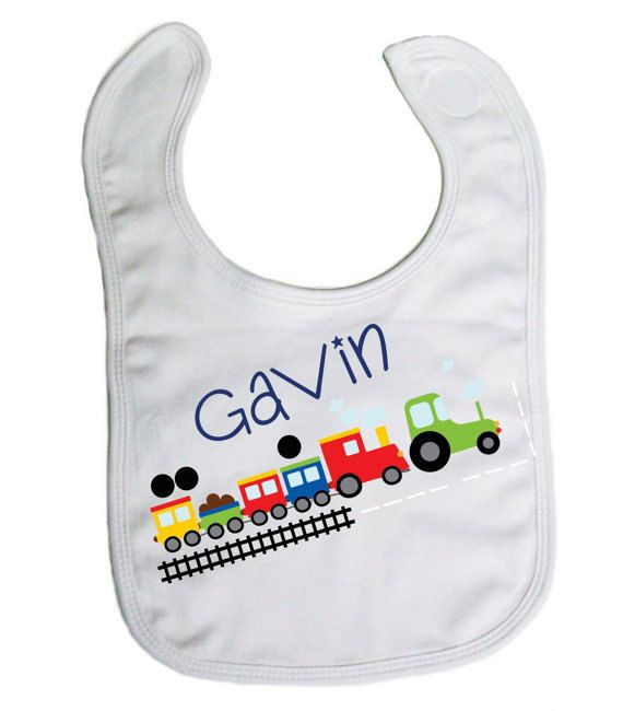 29 best personalized baby gifts images on pinterest personalized choo choo train baby bib baby gifts baby shower gift by 9mosmaternity on negle Gallery