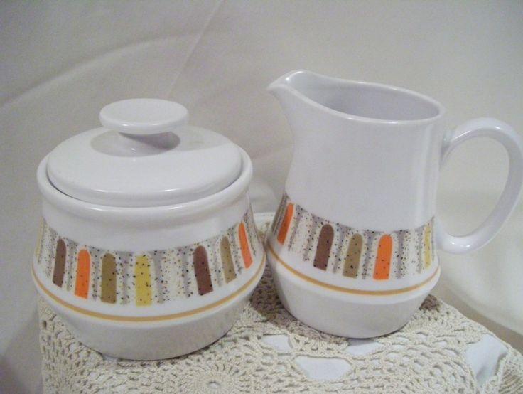 Vintage Noritake Progression Mardi Gras Creamer and Sugar Set   vintagegoodsandfloral - Kitchen & Serving on ArtFire