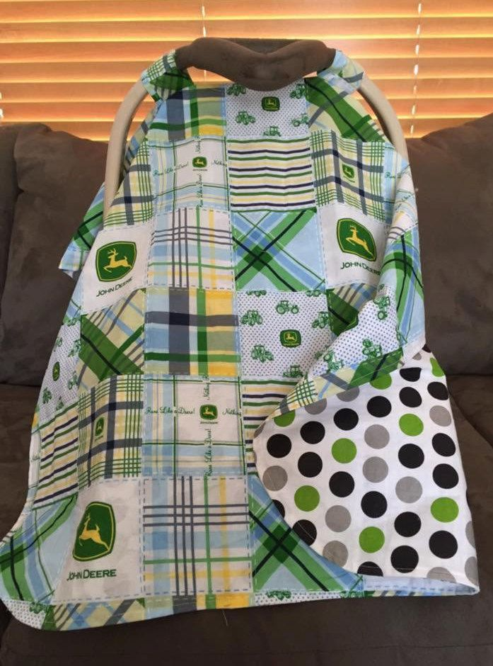 John Deere Car Seat Canopy/Baby Canopy/Tractor Canopy/Car Seat Cover/Baby Cover/Baby Tent by SewSweetBabyDesigns on Etsy