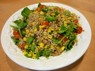 wheat berry salad citrus vinaigrette healthy salads healthy foods side ...