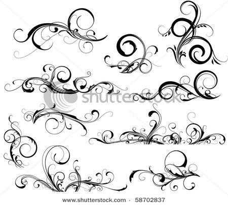 Love swirl tattoos.