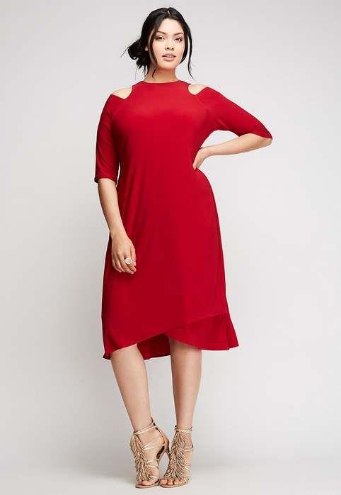 Нарядные платья для полных женщин американского бренда Lane Bryant, 2017