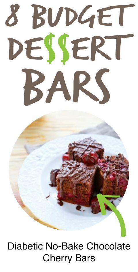 8 Budget Dessert Bars: Diabetic No-Bake Chocolate Cherry Bars