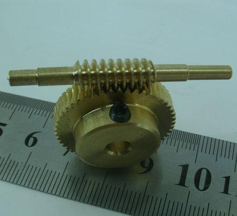 Diameter:27mm  Hole:5mm  0.5M  50Teeths 1:50  Copper vortex worm  rods gear Turbo worm gear