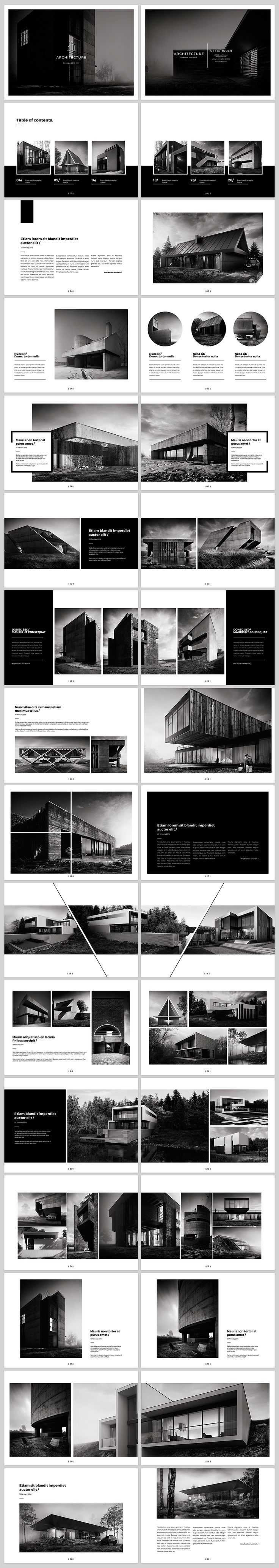 Architecture Landscape BrochureDetails:- 32 pages- Print ready - 300 DPI- CMYK- 210mm x 148mm- Easy to edit- Layered PSD filesFonts:- fontfabric.com/nexa-free-font- google.com/fonts/specimen/MontserratPhotos:- Adam Spychala - behance.ne…
