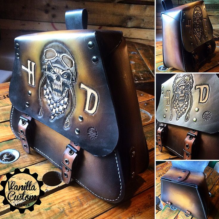 Vanilla Custom Leather #vanillacustom #vanillacustomleather #vcl #gdansk  #harley #bobber #saddlebag