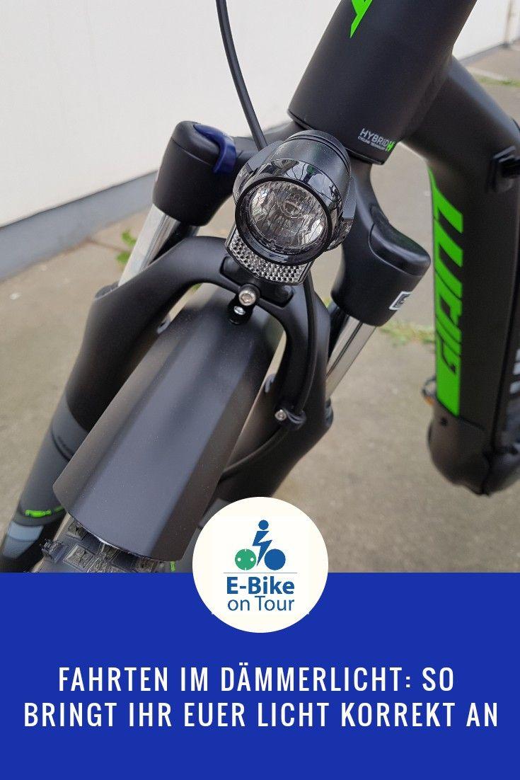 Fahrten Im Dammerlicht Die E Bike Beleuchtung Korrekt Anbringen Mit Bildern Licht Wissenswertes Tipps