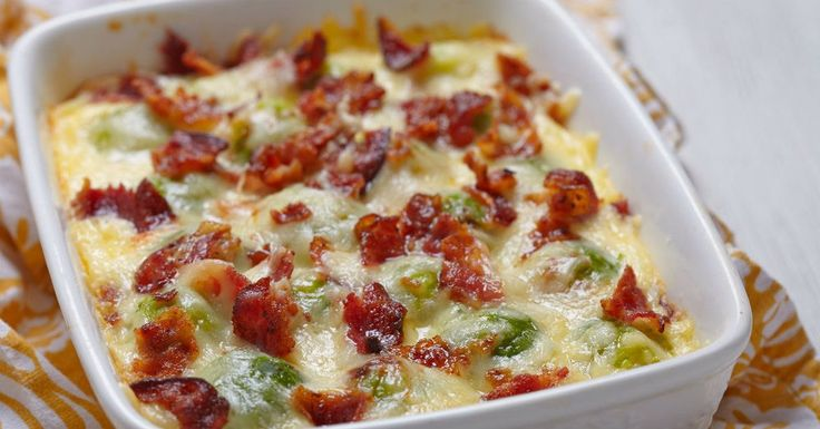 For Those Of You Who Don't Like Brussel Sprouts, This Cheesy Casserole Will Change Your Mind!