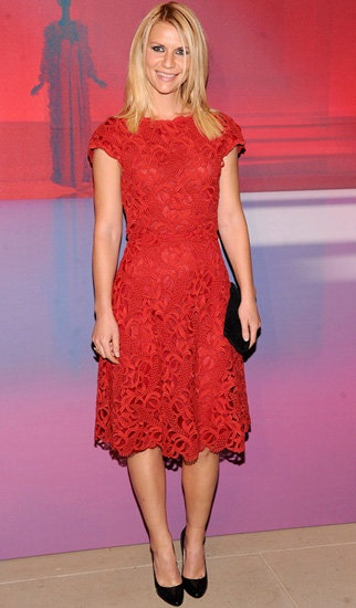 Claire danes red dress