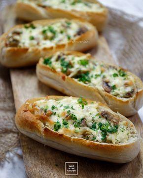 Bułki z serem i pieczarkami – niezwykłe | Karo in the Kitchen
