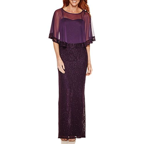 FREE SHIPPING AVAILABLE! Buy One by Eight Sleeveless Lace Popover Cape Evening Gown at JCPenney.com today and enjoy great savings.