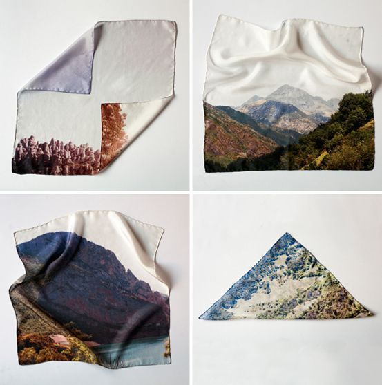 Sierra : Las Coleccionistas | Sierra is a limited edition collection of 4 square silk scarves printed with original photographs taken exclusively for the collection. 100% silk. Hand stitched. Made in Spain.