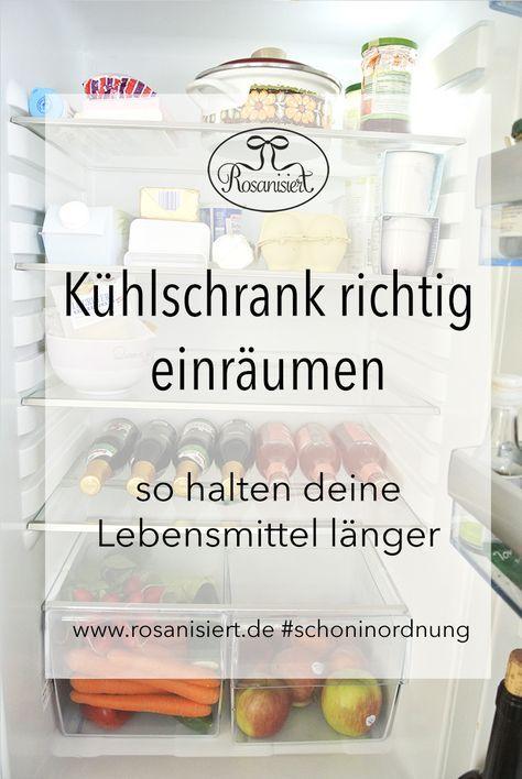 Kühlschrank richtig einräumen - mit diesen Tipps halten deine Lebensmittel länger #was1festival