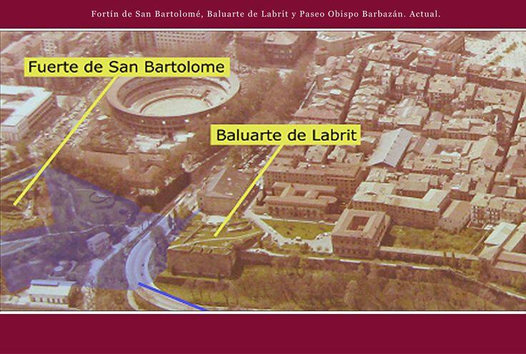 Fortín de San Bartolomé, Baluarte de Labrit y Paseo Obispo Barbazán. Actual.