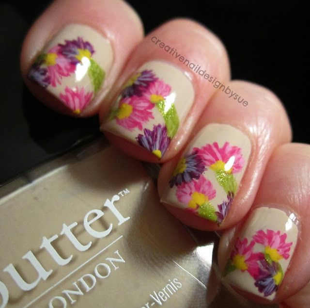 Creative Nail Design by Sue: The Nail Challenge Collaborative-Flowers by Butter London