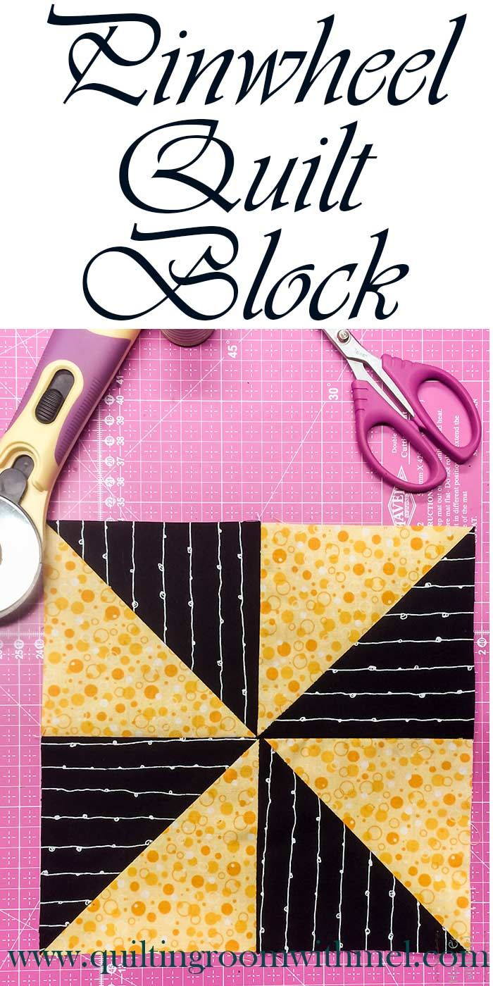 Learn how to make a pinwheel quilt block with this quick video tutorial.