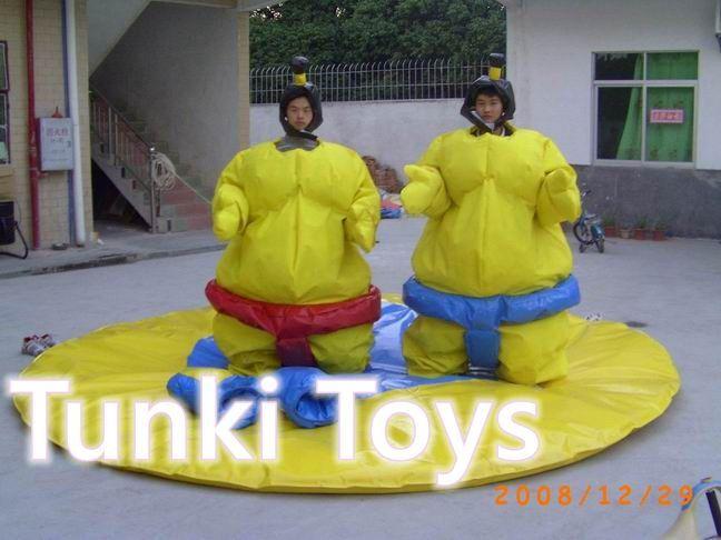 Niños trajes de lucha de sumo inflable/inflable juegos deportivos/sumo trajes de lucha de sumo(China (Mainland))