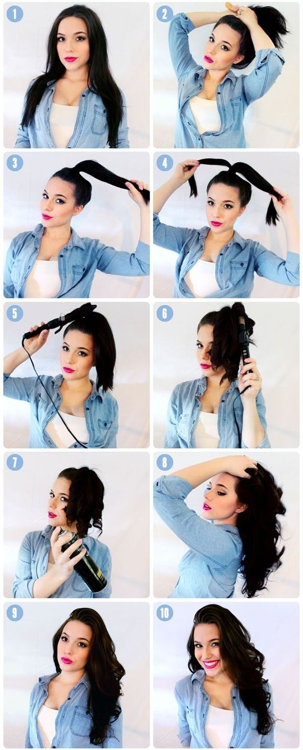 Do this, then put on your makeup while the curls cool and set. 11 Best DIY Hairstyle Tutorials For Your Next Going Out