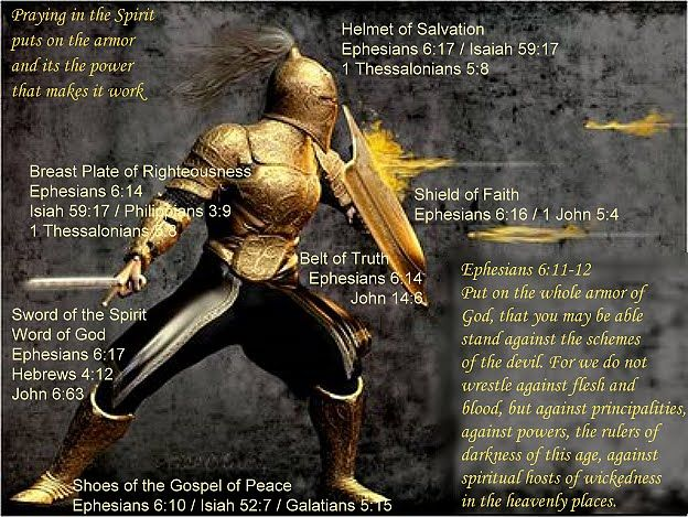 The Armor of God- The kids and I put this on every night!  No fear of the dark, or things that go bump and no bad dreams that we can't handle.  Just pray them away.