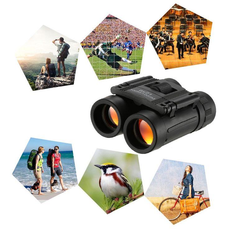 black 8x21 Folding Pocket Binocular Compact Mini Roof Prism Travel - Tomtop.com