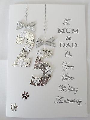 #Personalised handmade wedding #anniversary card 25th 40th 45th 50th #etc….,  …