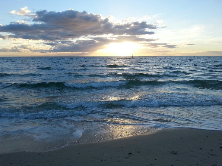 Carrum beach sunset Victoria Australia