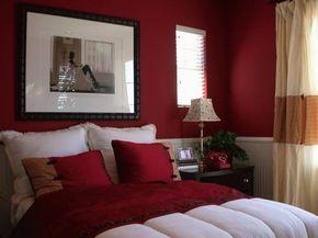 Quarto com cama em tons de vermelho   EuDecoro
