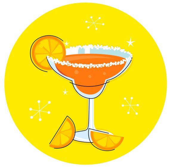 Cute hand drawn Original Cocktail 60s by RosemaryWellnessShop