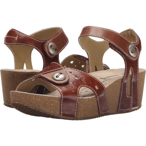 Romika Florida 05 (Camel/Cognac) Women's Sandals ($68) ❤ liked on Polyvore featuring shoes, sandals, beige, camel wedge sandals, platform sandals, long sandals, cognac sandals and romika shoes