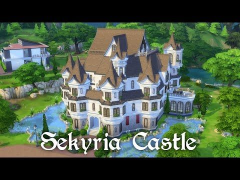 The Sims 4 Speed Building - Castle Part 1 - Exterior - YouTube