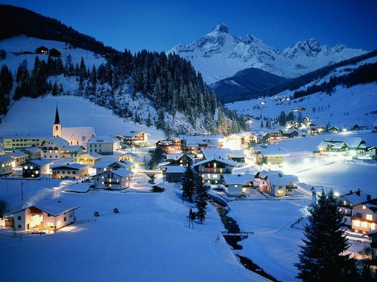 Wintry Filzmoos in Austria. It's a tourist magnet when it comes to winter, where skiing is the main activity and hiking during summertime.