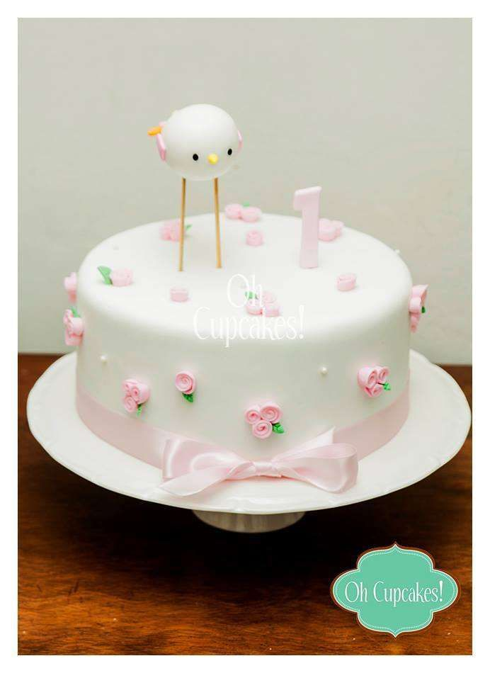 Bird cake at a baby shower party! See more party planning ideas at CatchMyParty.com!