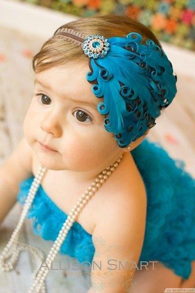 Charming Baby Girl With Cute Headband ❥❥❥ http://bestpickr.com/cute-baby-girls-boys-photos